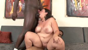 Chubby Mom Vs BIG BLACK DICKs