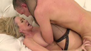 Blonde cougar Brandi love squirts on big cock