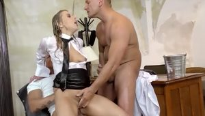 Two cocks disappear in naughty nikky