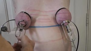 Nipple slave nipple torture with sobs