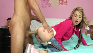 Pure 18 cutie Dallas Black hardly impaled in doggy style