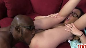 Natural tits pornstar interracial and cum on face