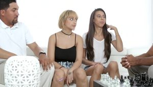 Marilyn Mansion & Victoria Vargaz in The Double Date Dilemma - DaughterSwap